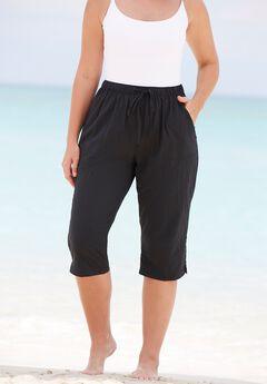 Taslon® Capri Coverup Pant,