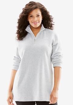 Half-zip micro fleece sweatshirt,