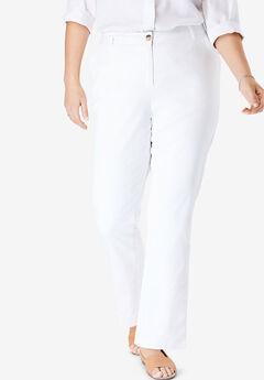 Straight Leg Chino, WHITE