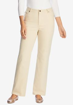 Wide Leg Stretch Jean, NATURAL KHAKI