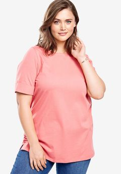 Perfect Boatneck Tee with Cuffed Sleeves,