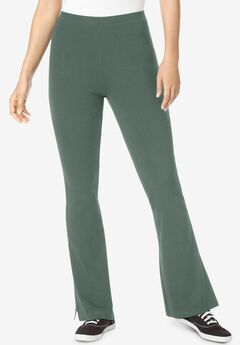 Stretch Cotton Bootcut Yoga Pant,