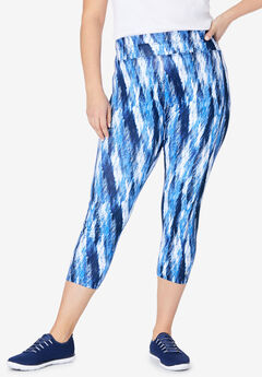 Active Capri Legging by FullBeauty SPORT®,