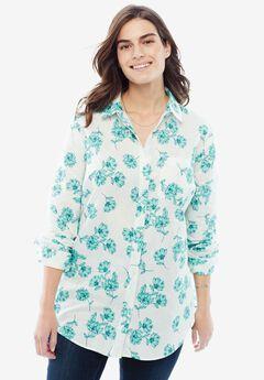 Classic Collared Linen Shirt,
