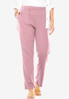 7-Day Knit Straight Leg Pant, ROSE MIST, hi-res