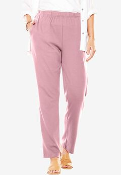 7-Day Knit Straight Leg Pant, ROSE MIST, hi-res