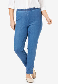 Fineline Denim Jegging, LIGHT STONEWASH