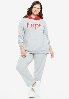 2-Piece Colorblocked Hoodie Set,