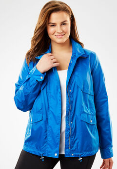 Utility Nylon Jacket, BRIGHT COBALT, hi-res