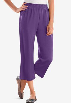 7-Day Knit Capri, RADIANT PURPLE