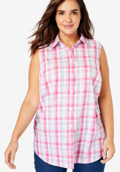e17c3dcc172 Perfect Button Down Sleeveless Shirt