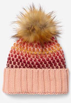 Pom-Pom Sweater Knit Beanie,