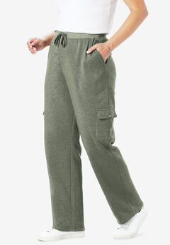 Better Fleece Cargo Sweatpant, HEATHER VINTAGE MOSS