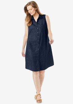 Sleeveless Shirtdress,