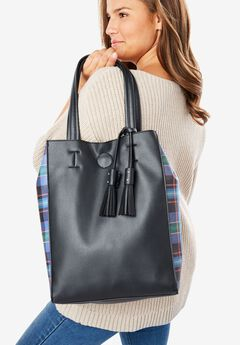 2-piece tassel tote & cross-body bag set,