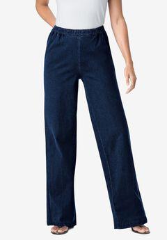 Wide Leg Fineline Jean, INDIGO