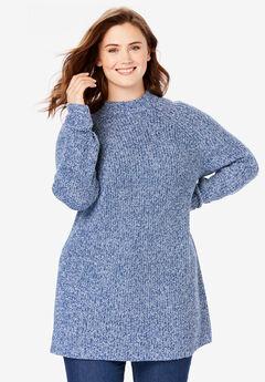 Mock Neck Shaker Sweater,