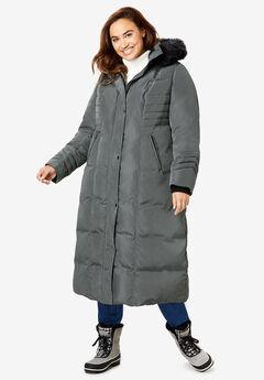 Long Hooded Puffer Coat,