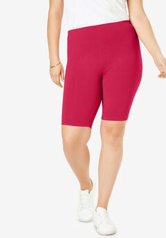 Stretch Cotton Bike Short, CRYSTAL BERRY