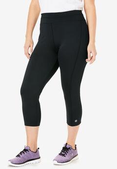 Capri pants by FullBeauty SPORT®, BLACK, hi-res