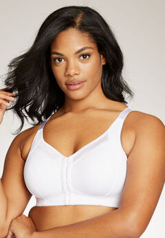 Front-Hook Wireless Posture Bra by Comfort Choice®, WHITE, hi-res