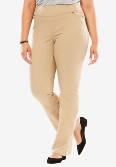 Bootcut Smooth Waist Jean, NATURAL KHAKI