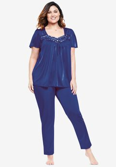 Silky 2-Piece PJ Set by Only Necessities®, ULTRA BLUE