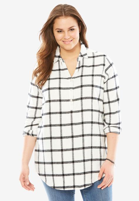 c7c2dcae1ca Long sleeve flannel shirt