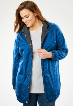 Reversible Jacket,water-resistant nylon to cozy fleece,