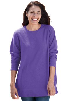Cozy Fleece Tunic Sweatshirt,