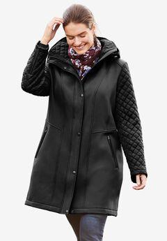 Mixed Media Jacket, BLACK, hi-res