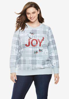 Holiday fleece sweatshirt,