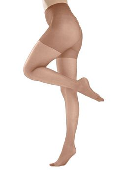 Comfort Choice® circulation plus size hosiery, NUDE, hi-res