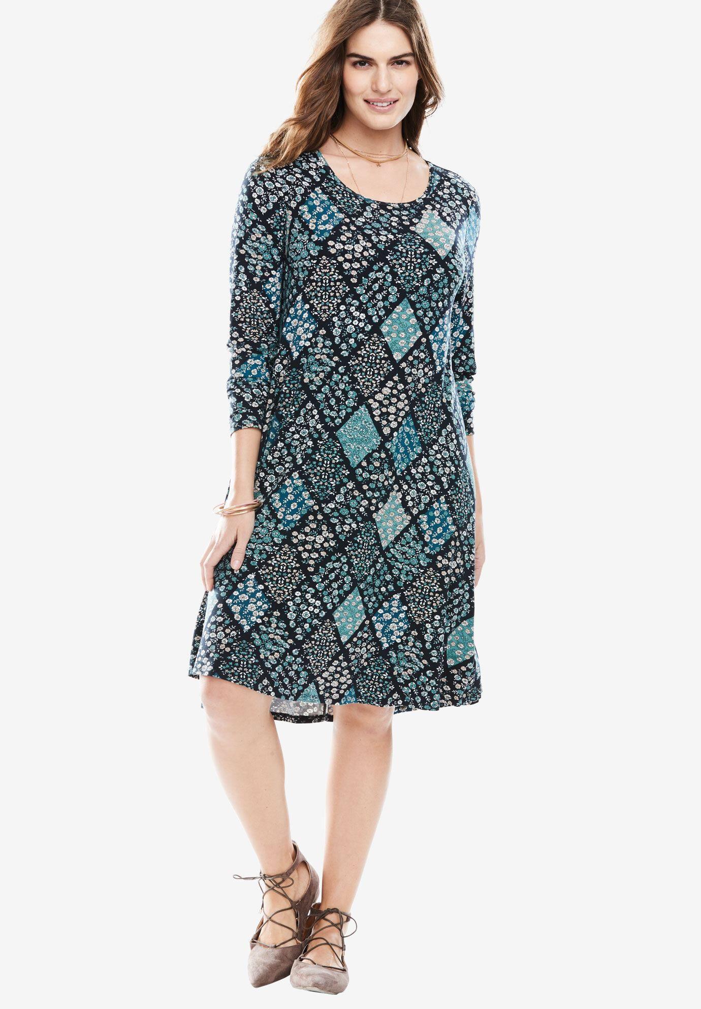 Plus Size Trapeze Dresses