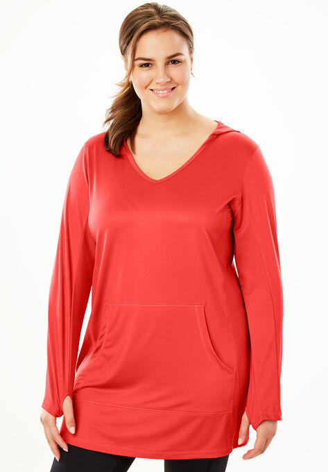 f218acb2be5 Hooded Active Tunic by FullBeauty SPORT®| Plus Size Active | Woman ...