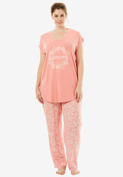 Graphic Tee PJ Set by Dreams & Co.®,