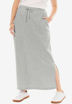 Sport Knit Side-Slit Skirt,
