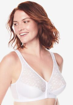 Exquisite Form® Fully® Front-Close Lace Wireless Posture Bra #5100565,