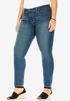 Signature by Levi Strauss & Co.™ Simply Stretch Plus Straight Leg Jeans, GREYSTONE