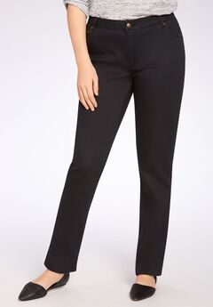 Straight Leg Stretch Jean, BLACK, hi-res