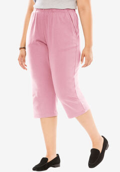 7-Day Knit Capri, ROSE MIST, hi-res