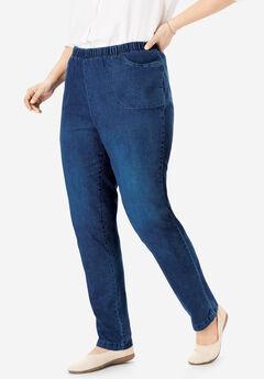 Straight Leg Fineline Jean, STONEWASH SANDED