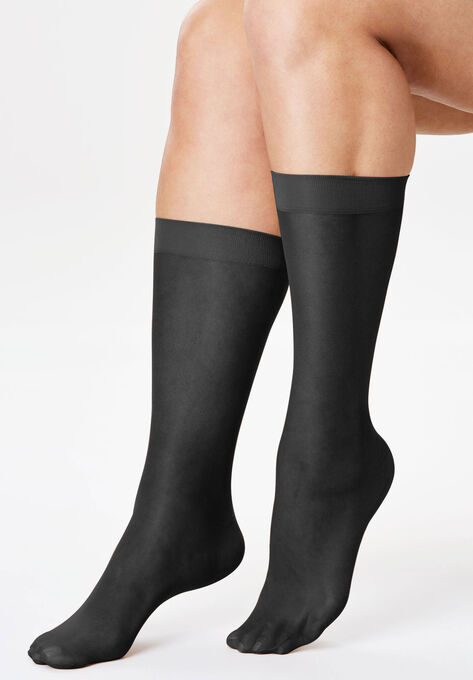 308ff38a052b2 3-Pack Sheer Knee-High Socks by Comfort Choice®| Plus Size Hosiery ...