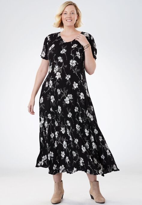 1fd4008cb6aa2 Crinkle Dress| Plus Size Dresses | Woman Within
