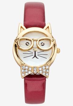 Cat Watch Round Crystal,