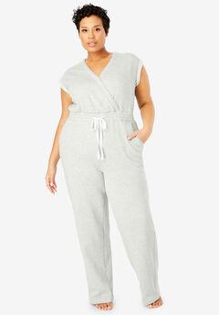 Surplice Fleece Jumpsuit by Dreams & Co.®,