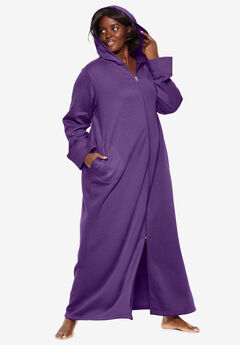 Hooded Fleece Robe by Dreams & Co.®, RICH VIOLET