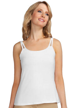 Amoena Valetta Pocketed Camisole Top, WHITE, hi-res