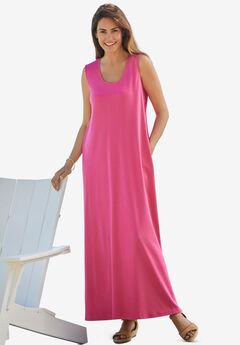 Sleeveless Scoop Neck Dress,