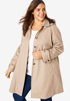 Classic raincoat with detachable hood, NEW KHAKI, hi-res